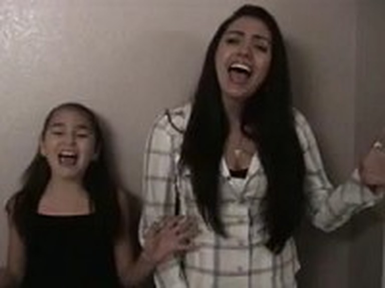 Mother and Daughter Sing Jesus Take the Wheel