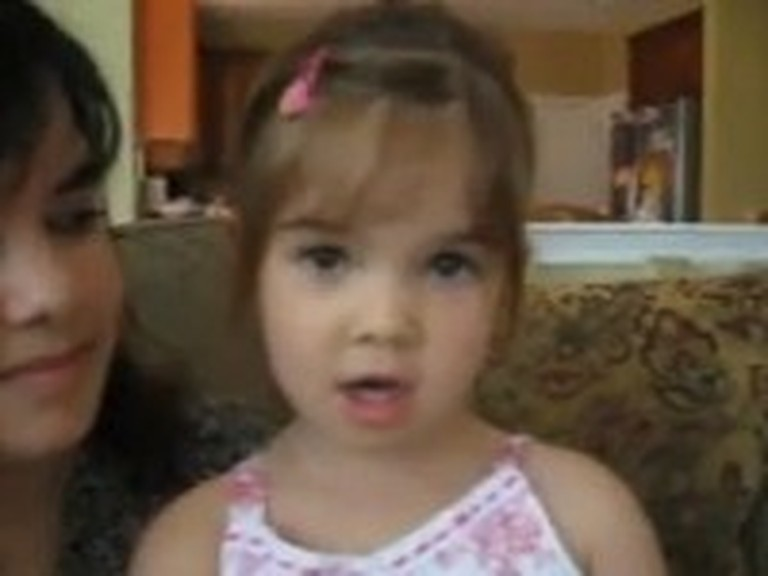 Adorable 3 Year Old Sings Amazing Grace