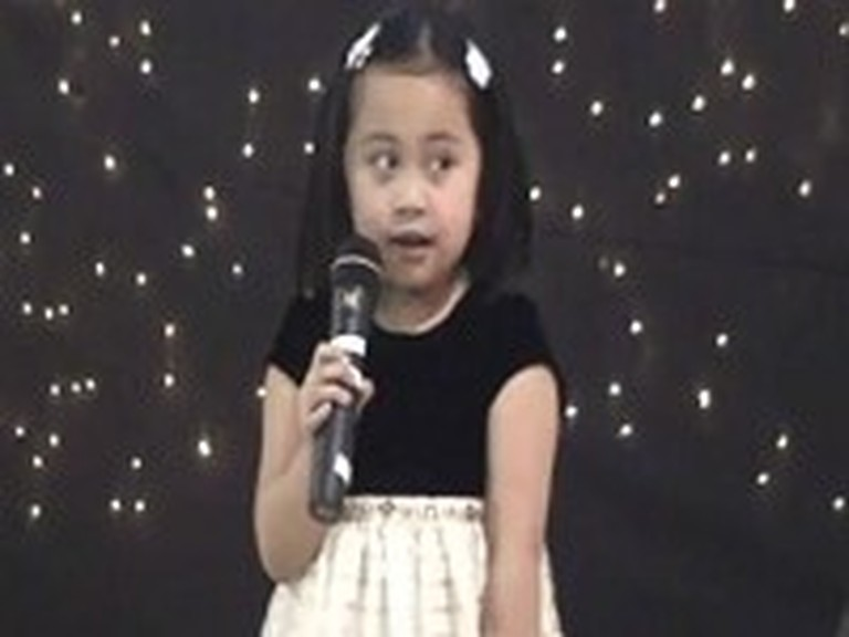 The Most Adorable 4 Year Old Sings a Christian Song