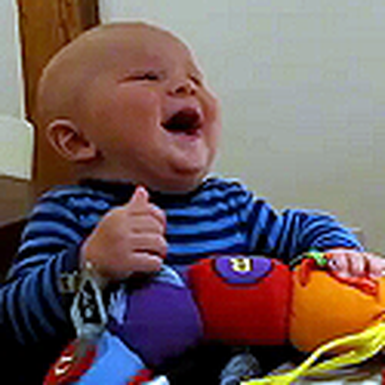 Cute Baby Cannot Stop Laughing at his Dad