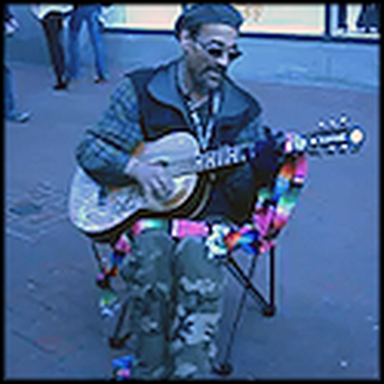 Homeless Man Performs Stand by Me for Passersby