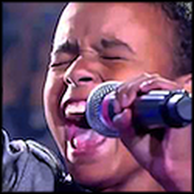 9 Year Old Boy Sings Amazing Grace My Chains are Gone