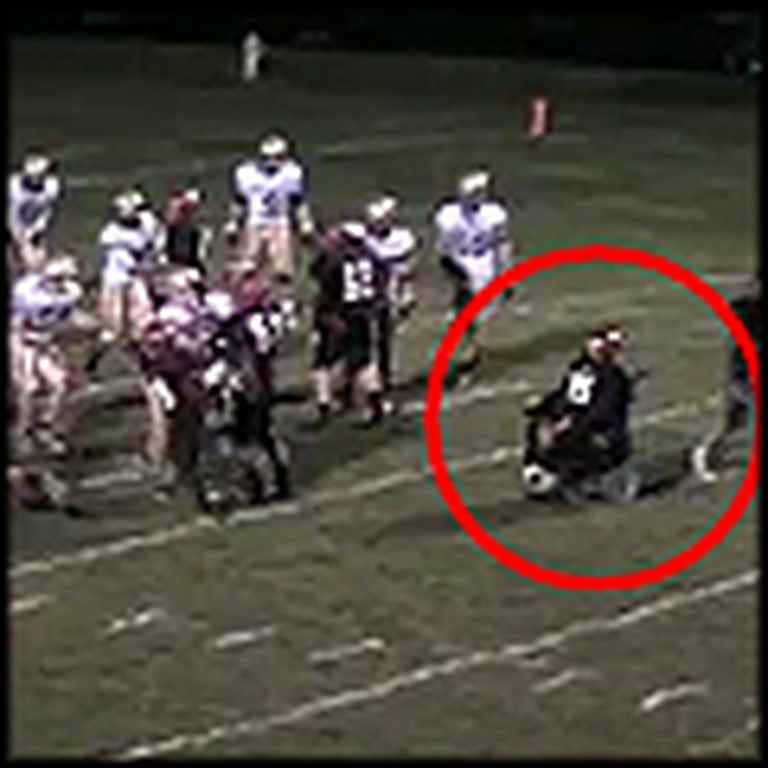 Boy in a Wheelchair Scores the Final Touchdown - So Touching
