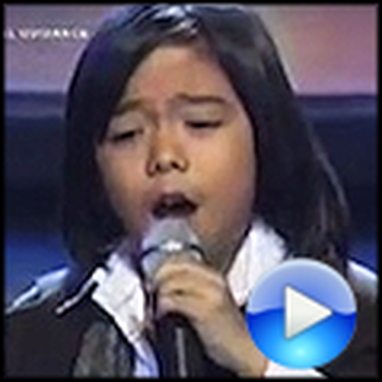 You Raise Me Up by 8 Year Old Philip Nadela - WOW