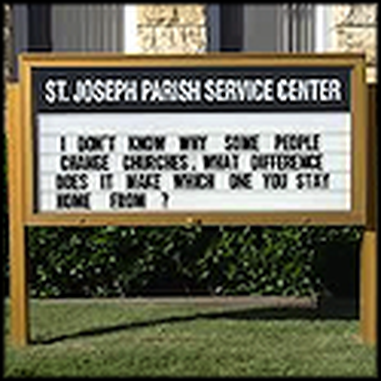 More Funny and Creative Church Signs - Part 7