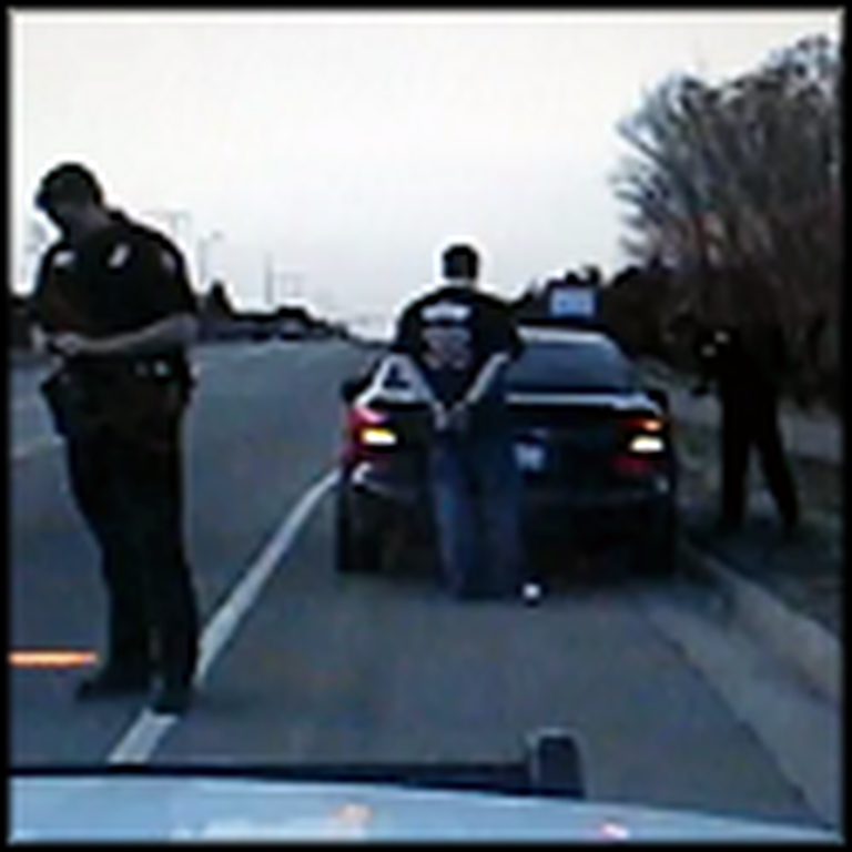 Police Officers Arrest a Man - Then Help Him Propose to his Girlfriend