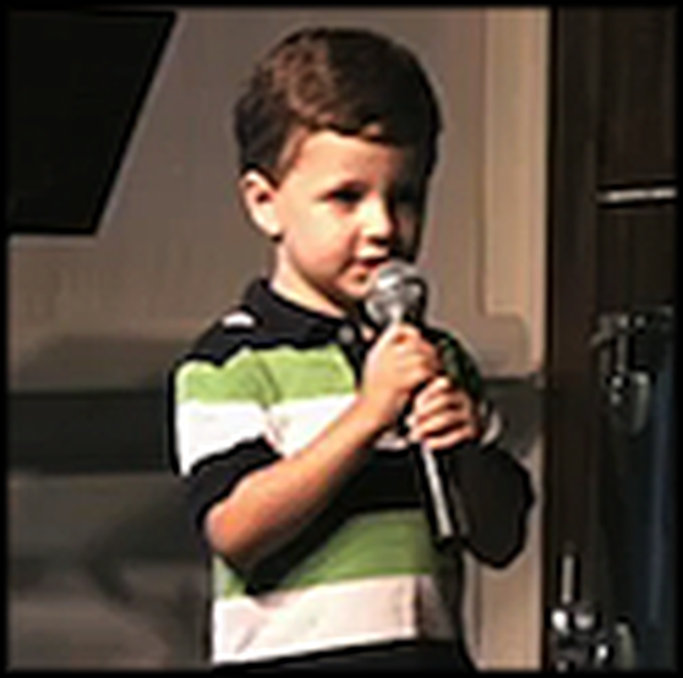 3 Year Old Boy Sings Be Like Jesus - Adorable