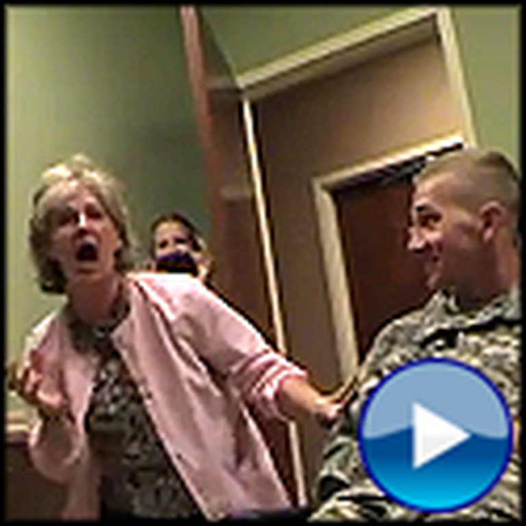 Watch Mom's Amazing Reaction When Her Soldier Son Surprises Her