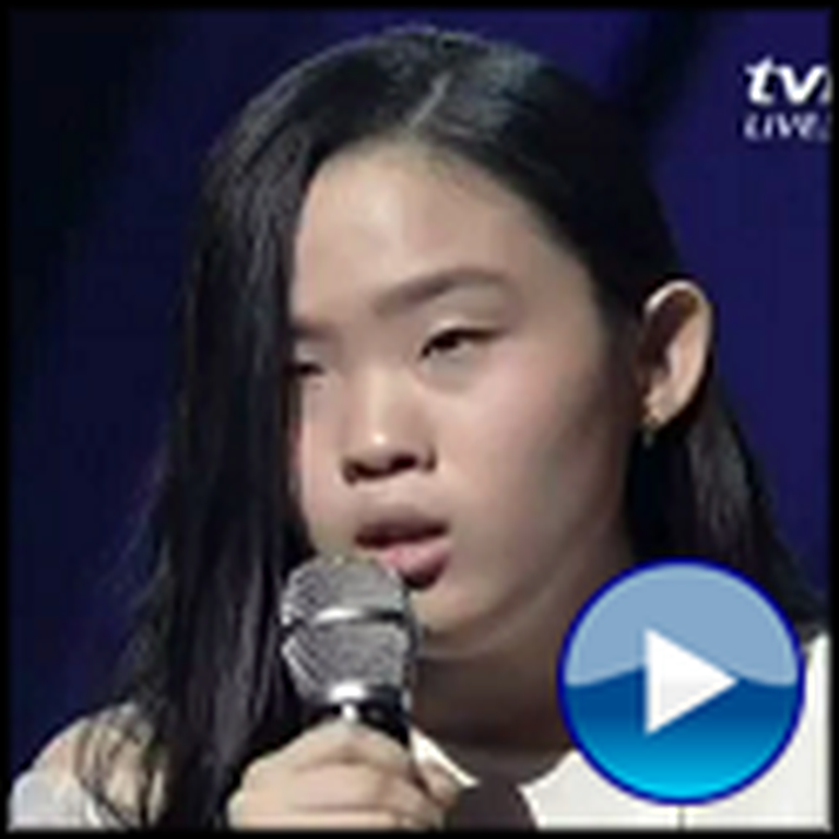 Blind Girl With an Amazing Voice Sings You Raise Me Up