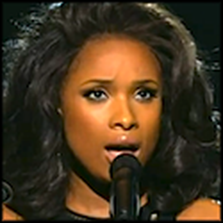 Jennifer Hudson Honors the Late Whitney Houston at the 2012 Grammys