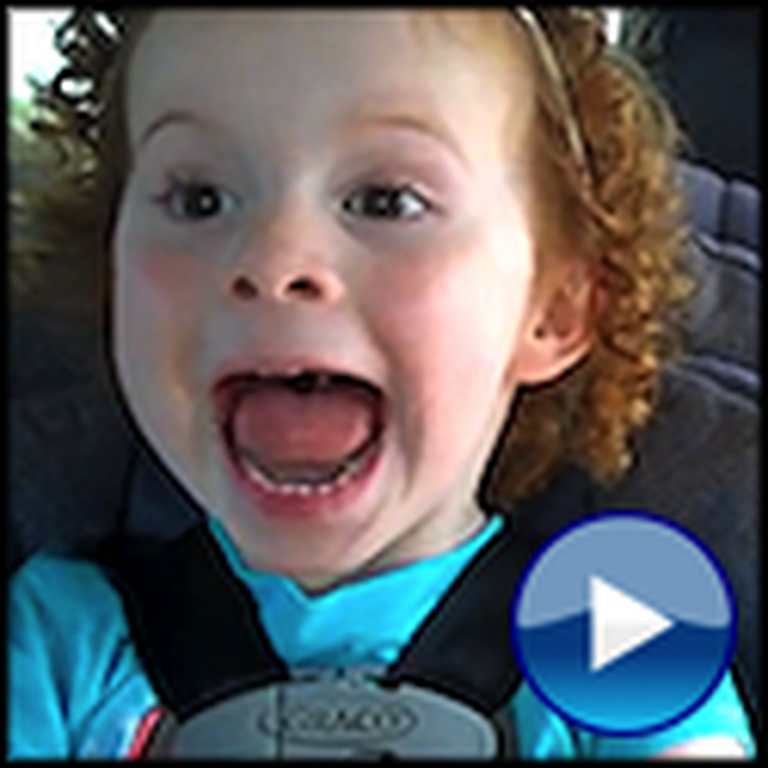 Little Girl Gets the Biggest Surprise of her Life in the Car