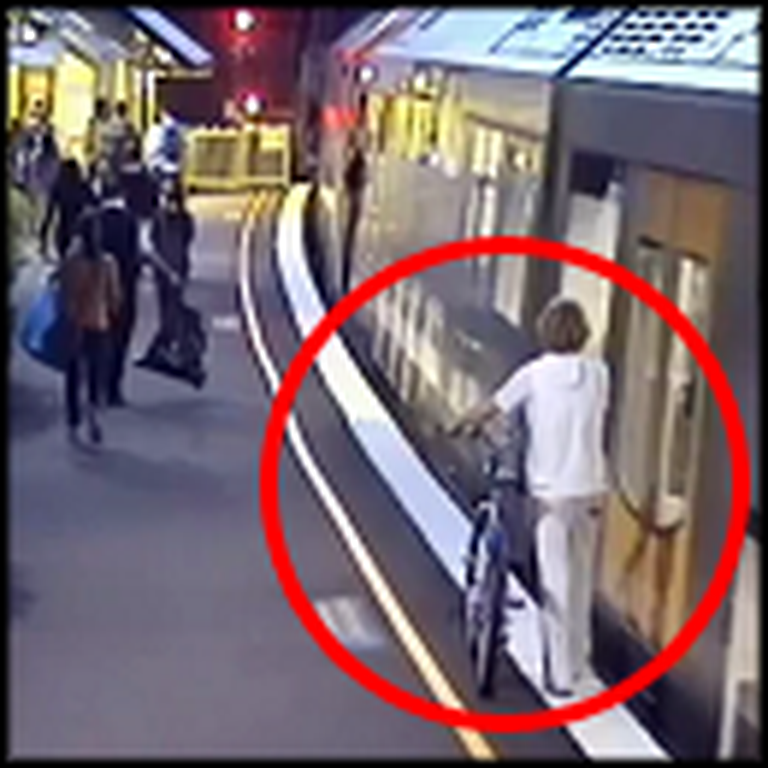 Man Gets Swallowed Up by a Train - But Then a Miracle Happens