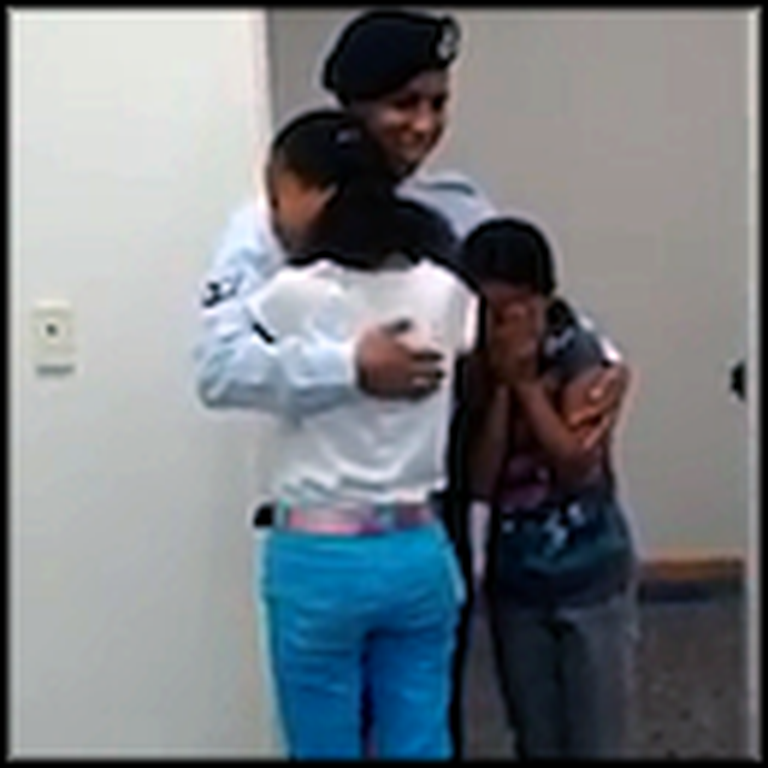 Two Sisters Break Down When Their Airman Brother Surprises Them