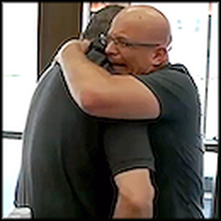 Former Alcoholic's Emotional Reunion With the Cop Who Arrested Him