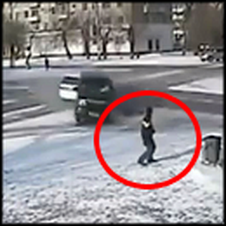 Man's Close Call with Death is Caught on Tape