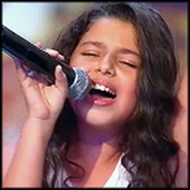 9 Year Old Girl Gives Judges Goosebumps - Amazing Voice