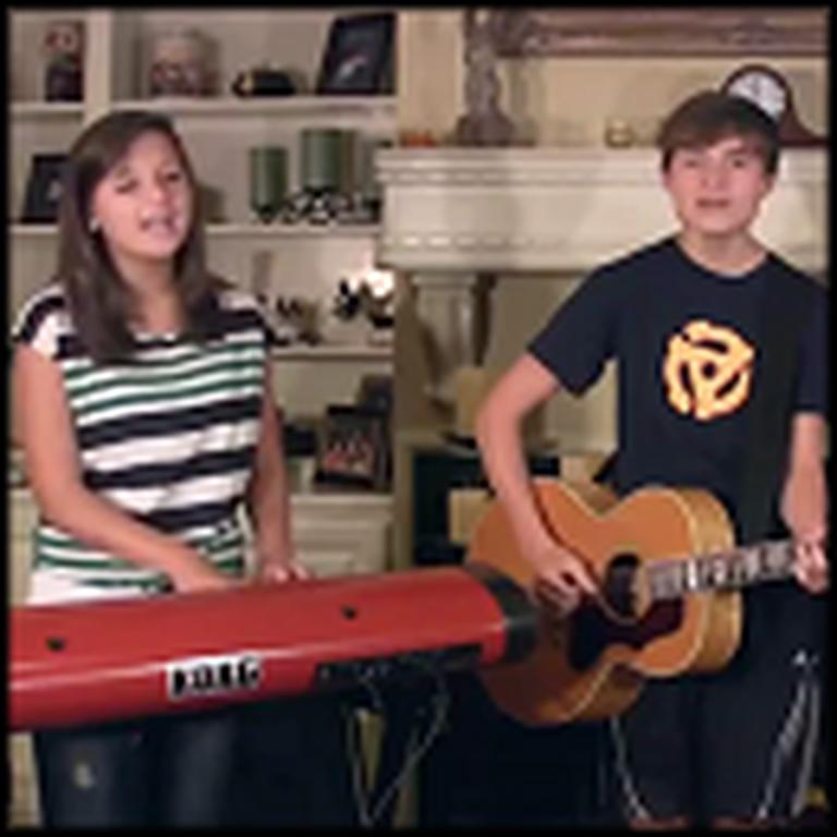 Three Siblings Sing Bridge Over Troubled Water - Great Harmonies