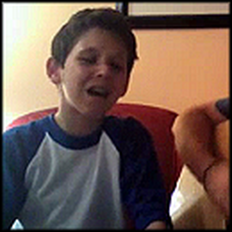 Father and Son Sing a Song Together - They are Great