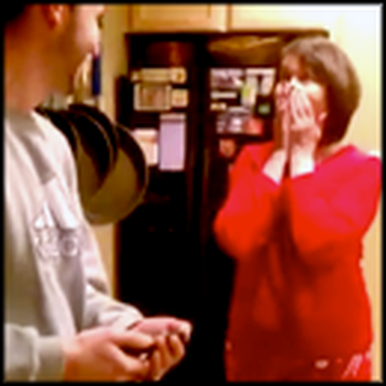 Pregnancy Surprise Sends Mom into a Happy Screaming Craze