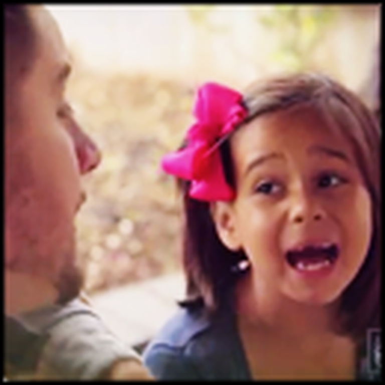 Little Girl Singing a Song With Daddy Will Steal Your Heart