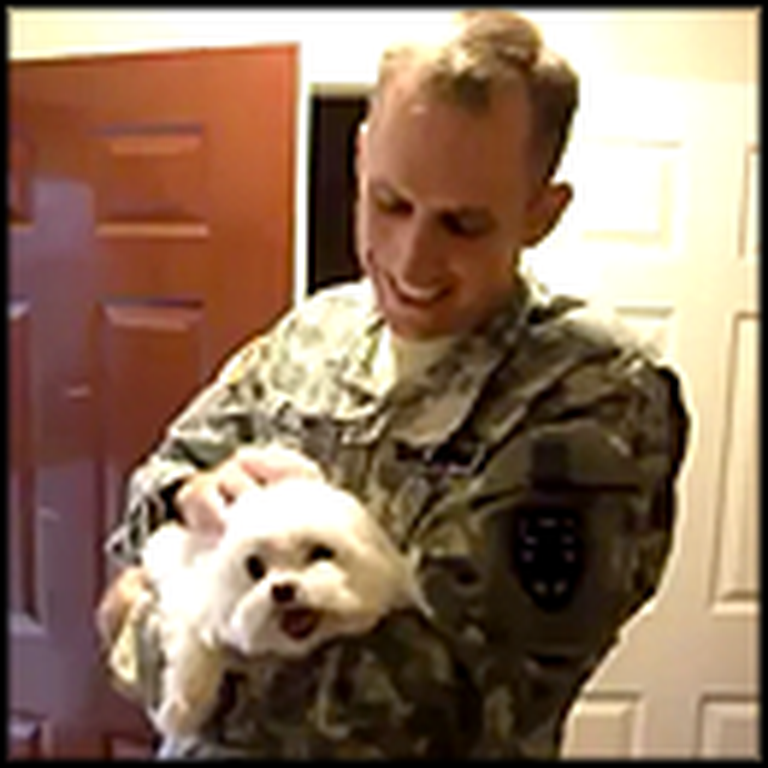 Princess the Puppy Goes Crazy When her Soldier Daddy Returns