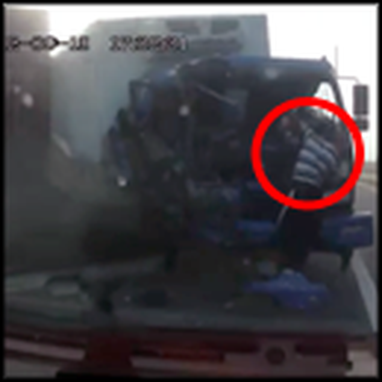 Truck Driver Flies Through the Windshield - and Miraculously Lands on his Feet