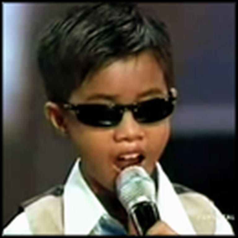Blind Boy Steps on Stage to Sing - And Absolutely Wows Everyone