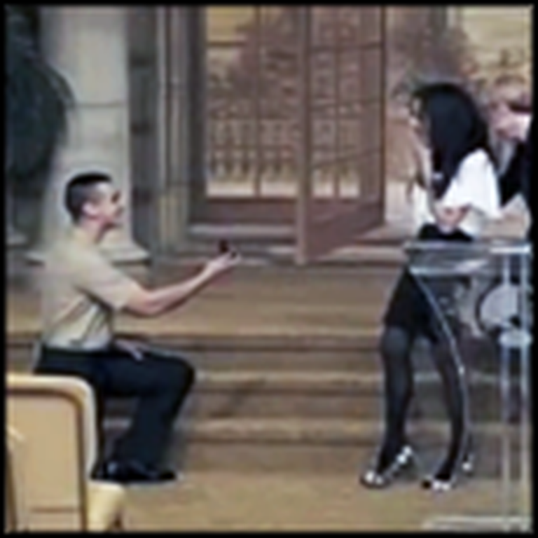Sailor Gives His Girlfriend the Most Romantic Surprise - in Church
