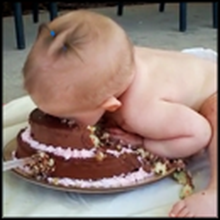 THIS is How You Should Eat a Birthday Cake
