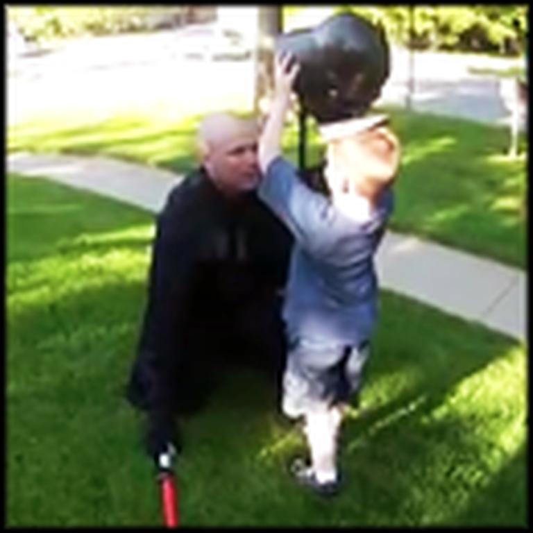 Boy Has No Idea Darth Vader is Actually his Soldier Dad