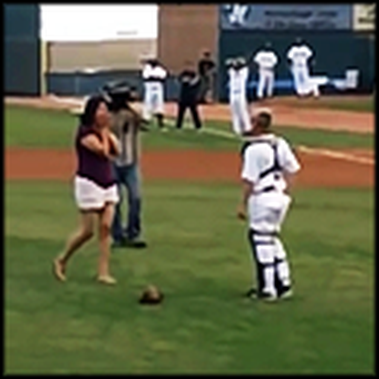 Soldier Surprises Girlfriend at a Baseball Game - and Does Something Crazy