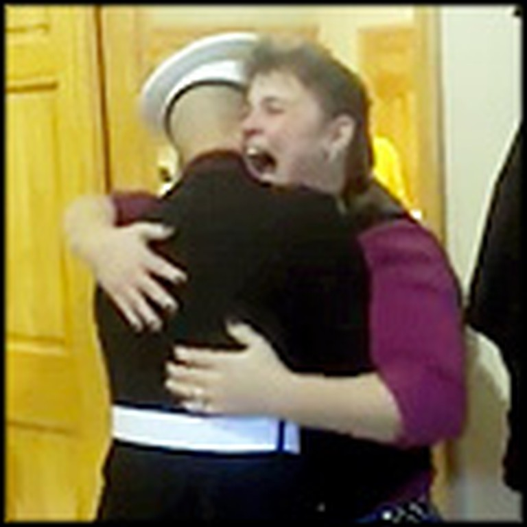 Marine Does Something Awesome for His Mother - This is Her Reaction