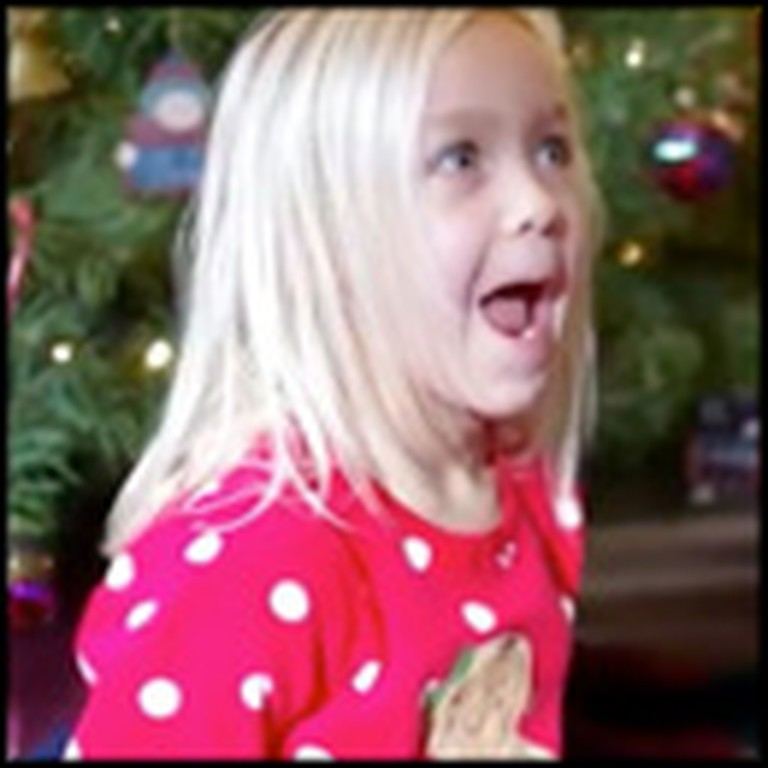 Little Girl Has The Cutest Reaction When She Finds Out Her Prayers Were Answered