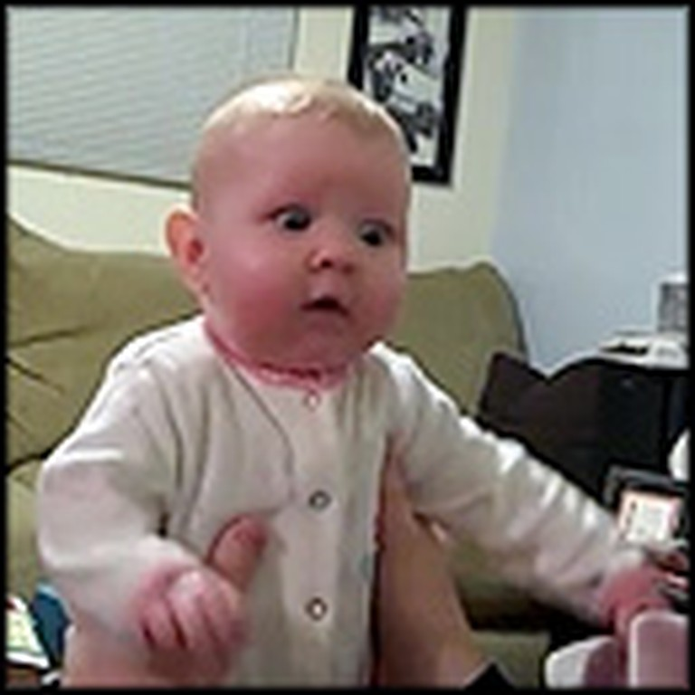 Baby Has the Cutest Reaction to Hearing Vacuum for the First Time