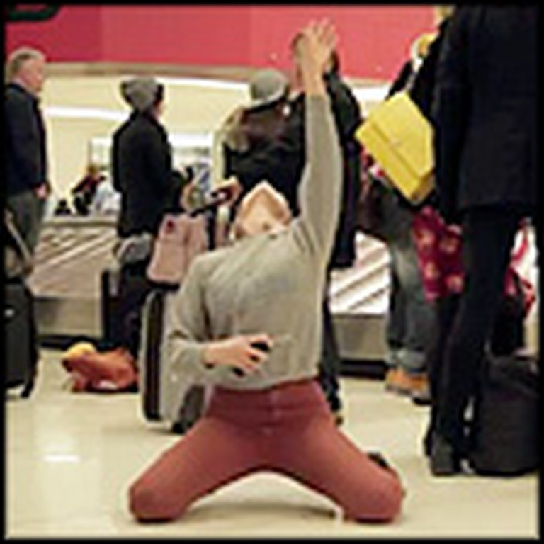 Dance Like Nobody's Watching - a One Girl Flash Mob at the Airport