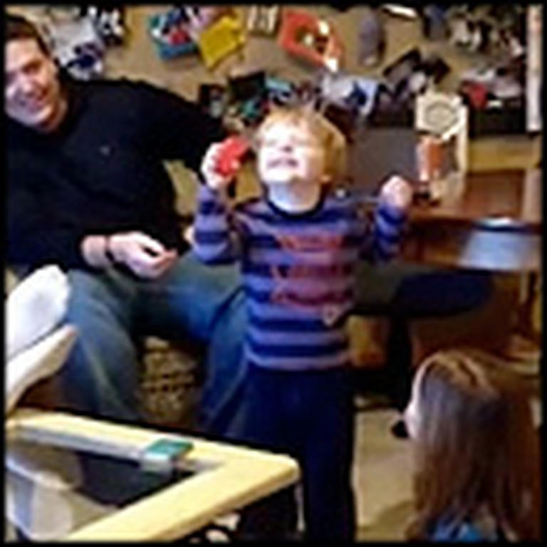 Little Boy is Overjoyed With the Strangest Christmas Gift
