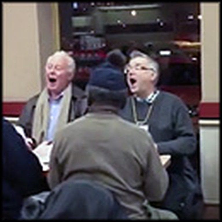 Men Surprise Coffee Shop Customers by Breaking Out Into Song