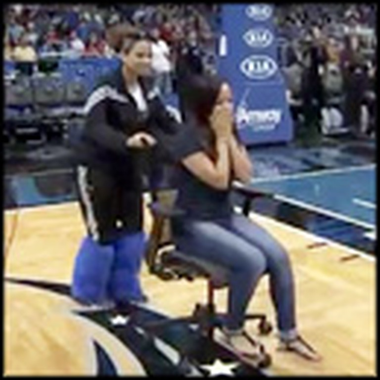 Half-Time Show Ends with an Awesome Surprise Proposal