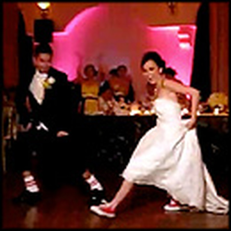 Bride & Groom Give Guests a First Dance Wedding Surprise