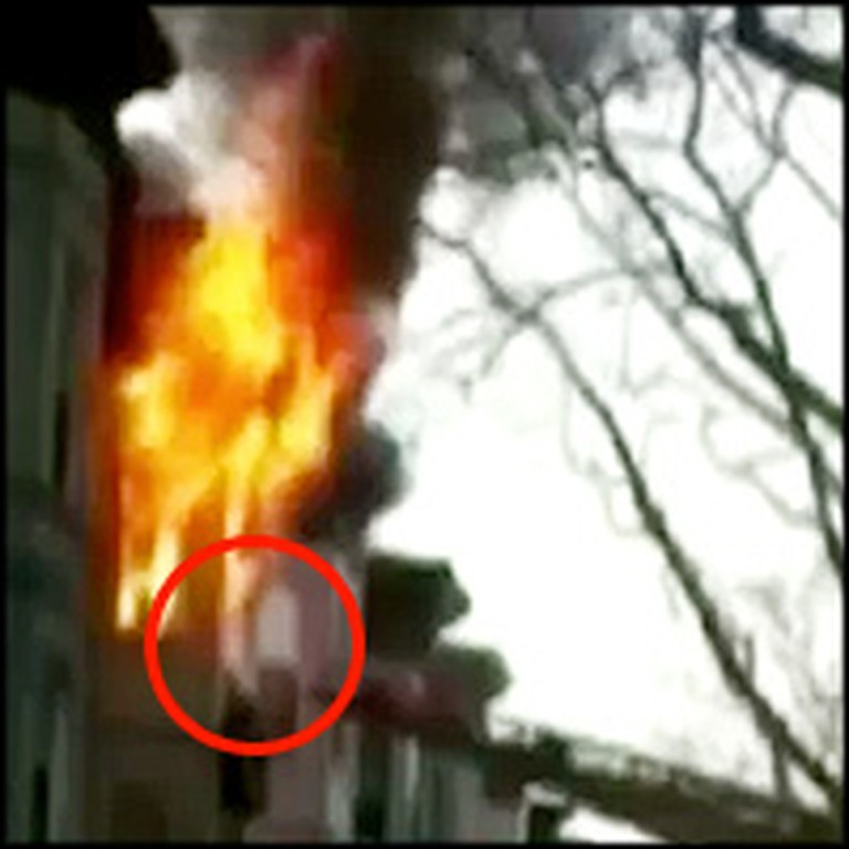 Firefighter Risks His Life to Save a Fellow Rescuer From the Flames
