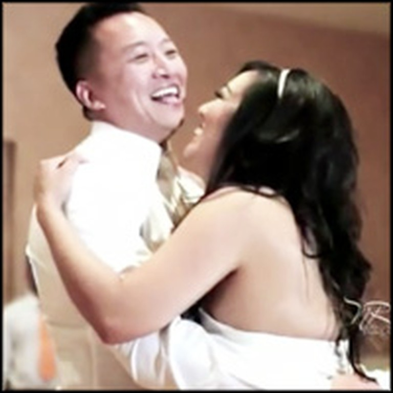 Bride and Groom Give Their Guests and Epic Surprise