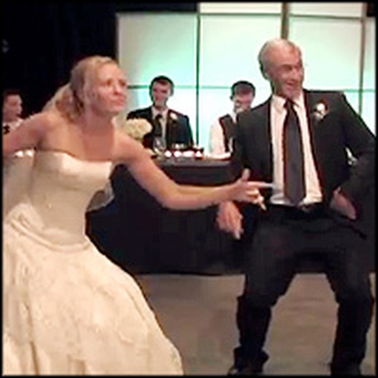 Father and Bride Perform a Very Silly and Very Special Dance