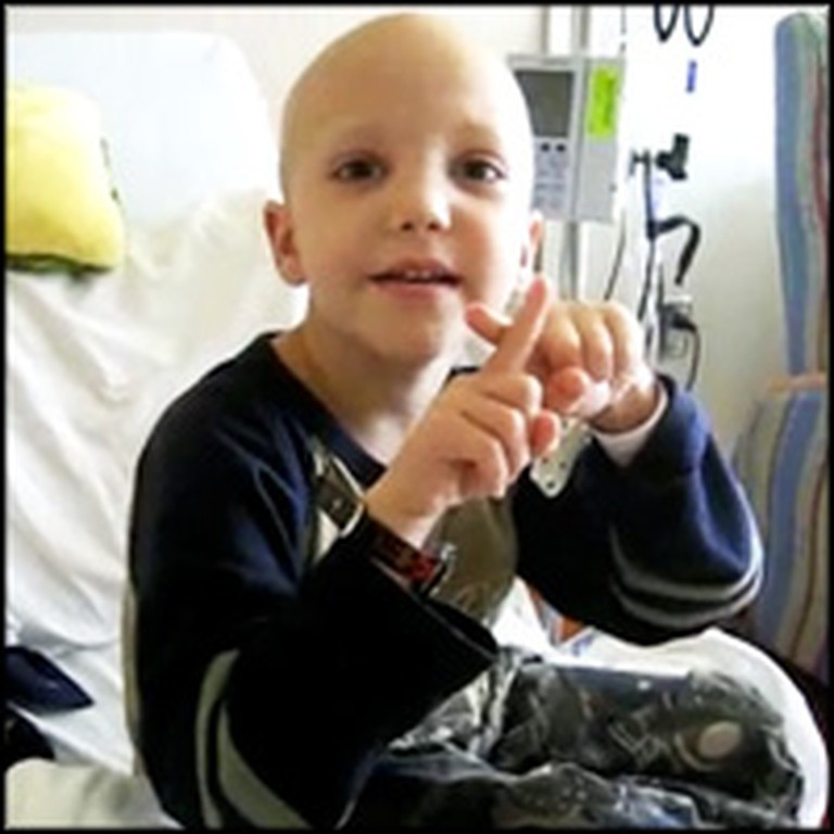 Precious Child Lifts Praises to Jesus During Chemo Treatment