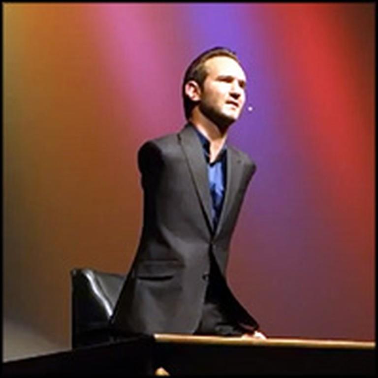 Limbless Pastor Nick Vujicic Explains How God Saved Him from Suicide