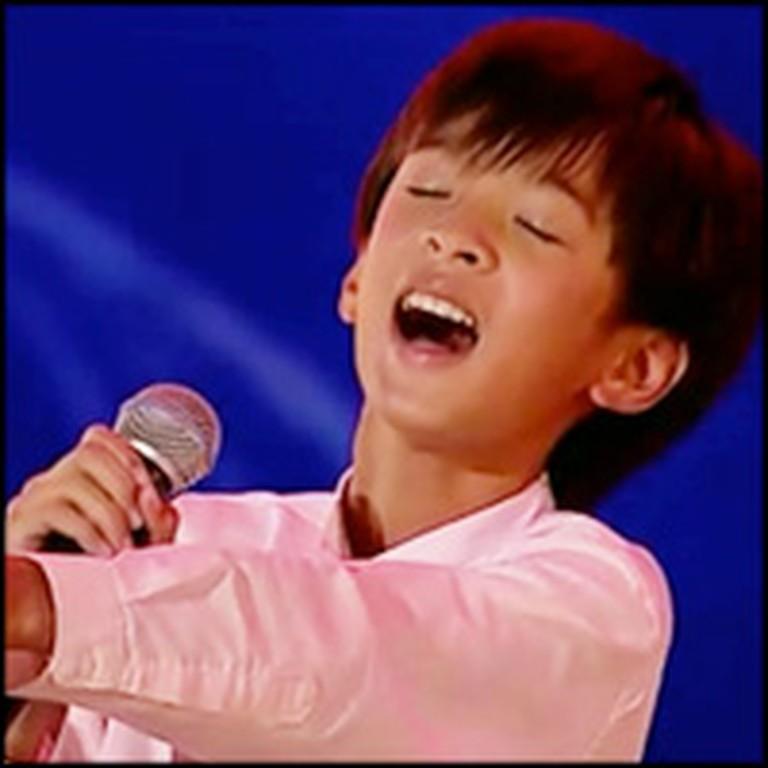 Little Boy Sings Somewhere Over the Rainbow Like a Glorious Angel