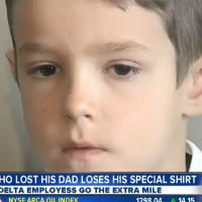 Delta Airlines Reunites Boy With Deceased Dad's T-Shirt