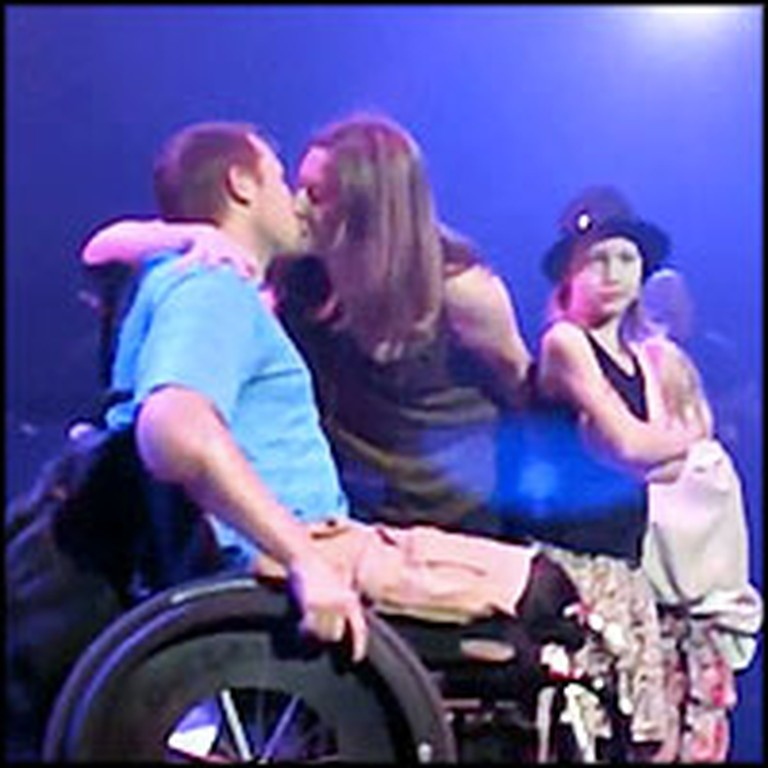 Wounded Soldier and Loving Wife Renew Vows at a Train Concert