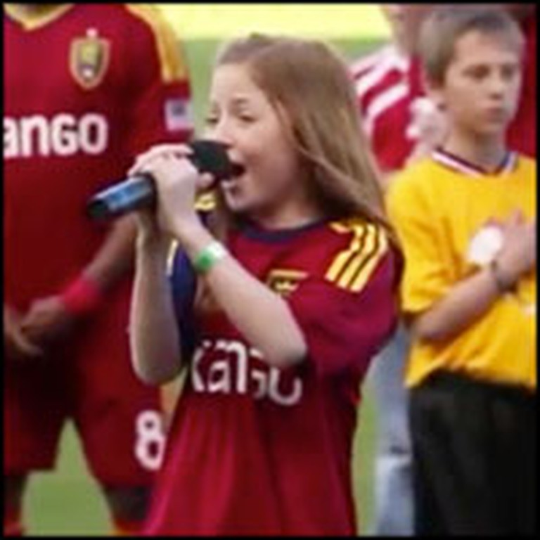 One of America's Future Stars Sings the National Anthem