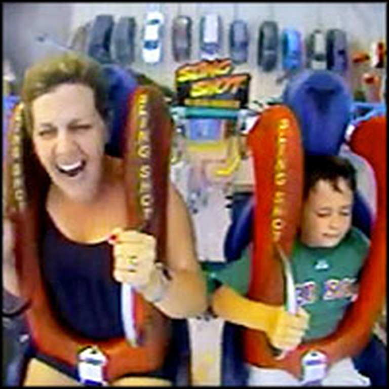 Mom Does Something Awesome for Her Son and Rides a Roller Coaster