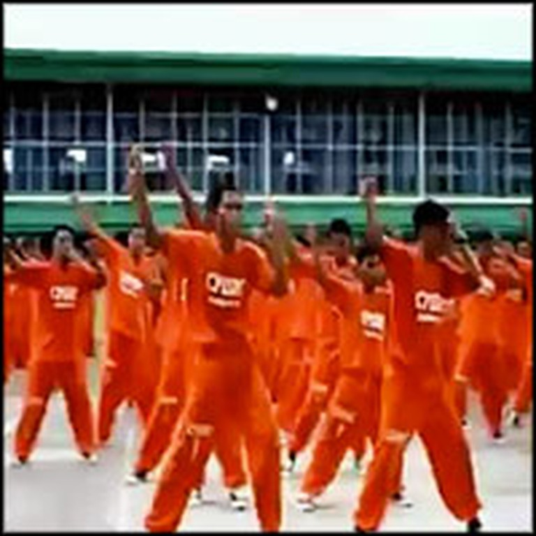Rehabilitating Inmates Perform a Flash Mob for Peace
